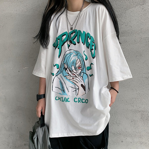 Summer fashion anime print T-shirt yc23121