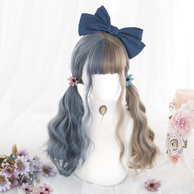 lolita style mixed color curly wig yc23401