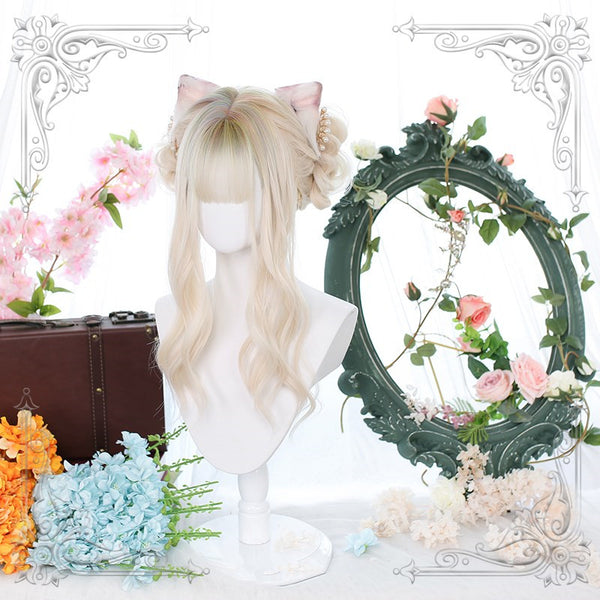 lolita fashion long curly wig yc23235