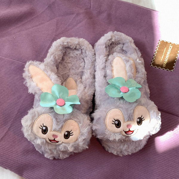 Cute rabbit warm slippers YC23945
