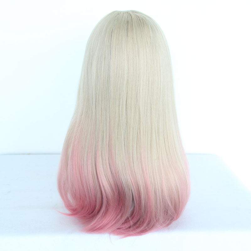 Fashion style gold pink gradient wig yc23386
