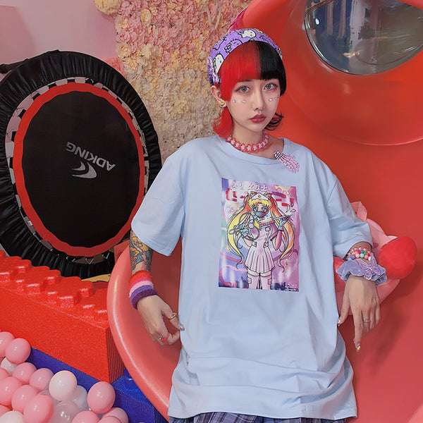 Harajuku Sailor Moon Short Sleeve T-shirt yc23446