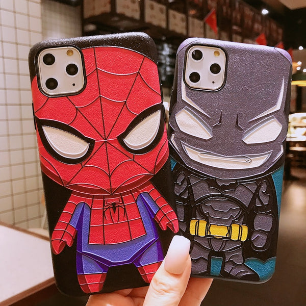 Spider-Man Batman cartoon phone case yc23330