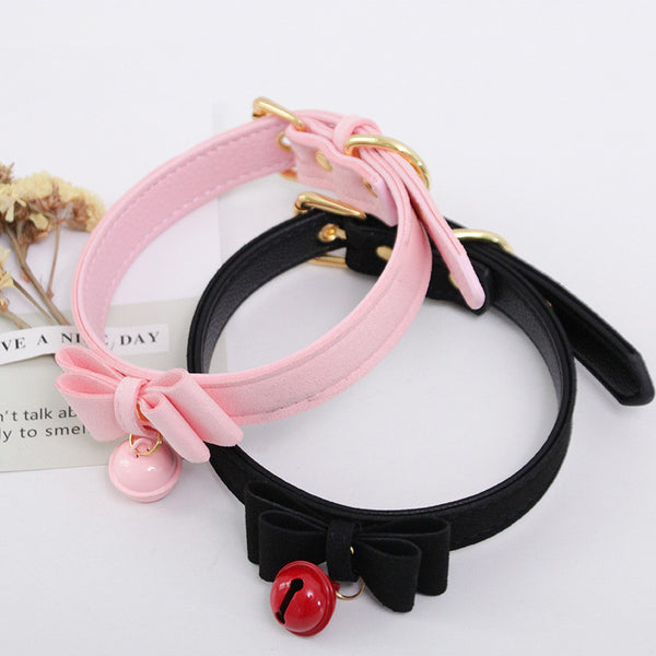 Lolita bell leather collar yc21096