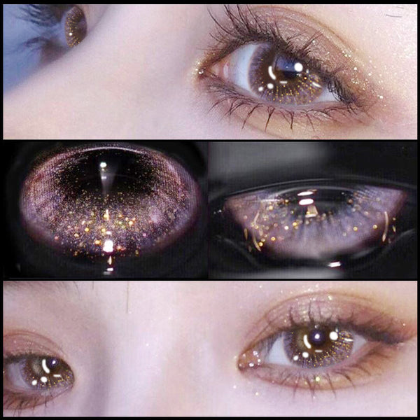 PINK PURPLE CONTACT LENS (TWO PIECES) YC24080