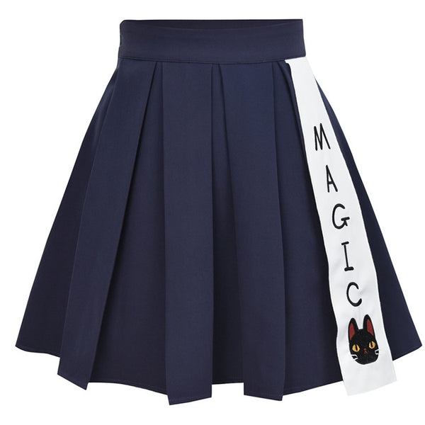 Cute cat pleated skirt yc21031