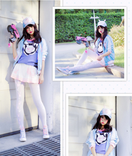 Overwatch DVA cosplay Baseball Uniform yc20808