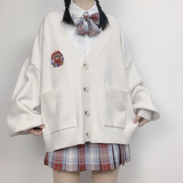 Japanese v-neck cardigan sweater yc23661