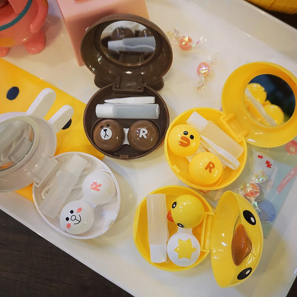 Cute animal contact lens case yc23310
