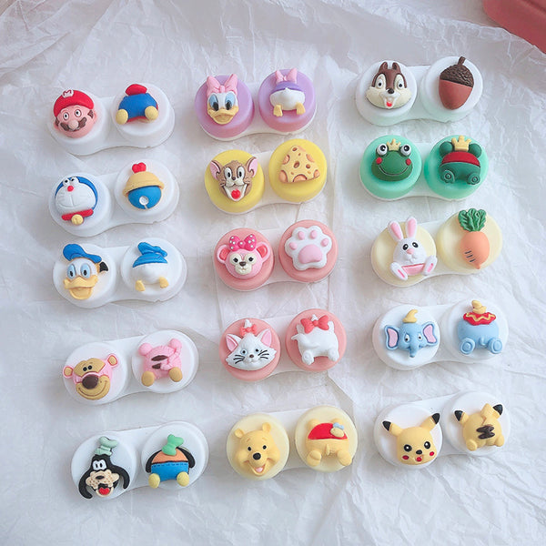 Cute Cartoon Contact Lens Case YC24069