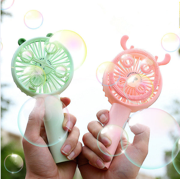 Cute deer bubble machine fan yc23425