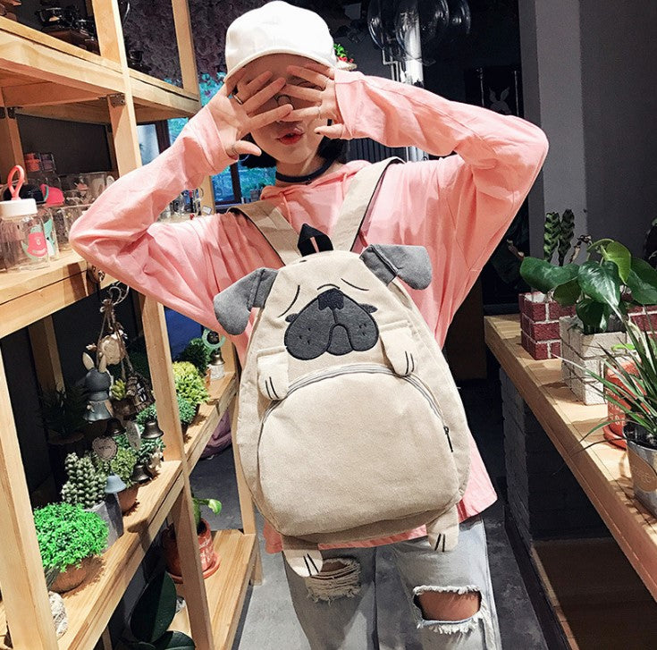 Japanese cute fox terrier backpack yc20648