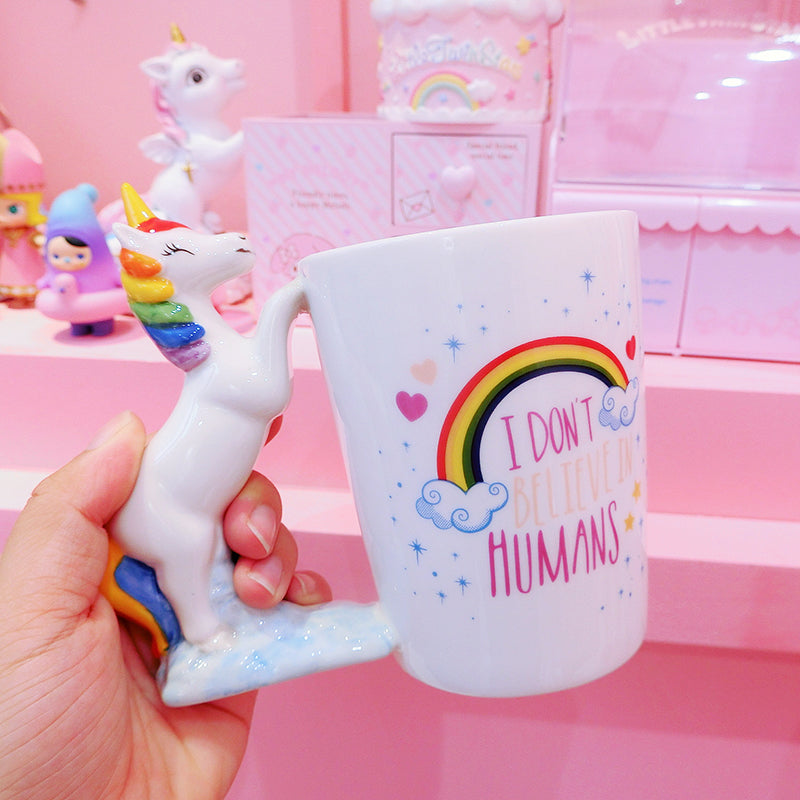 Rainbow Unicorn Ceramic Cup yc21097