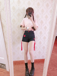 Ulzzang love shorts yc21032