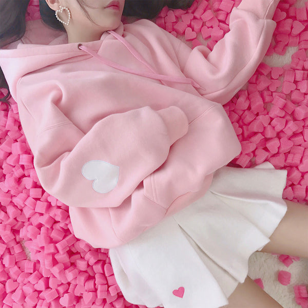 Love Pink Hooded Sweatshirt yc21000