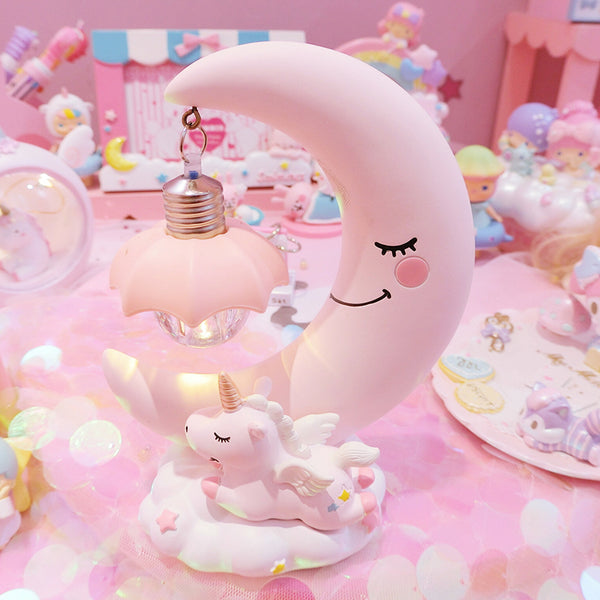 Cute moon unicorn night light yc21098