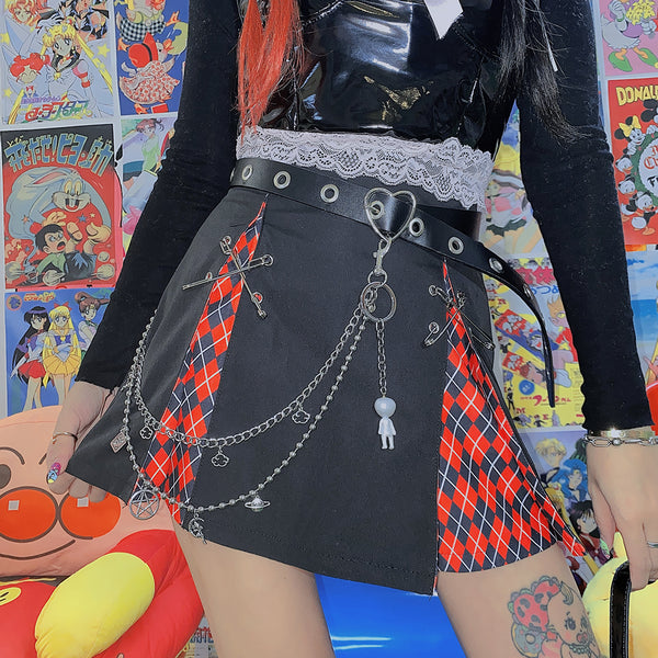 Punk pin skirt YC23994