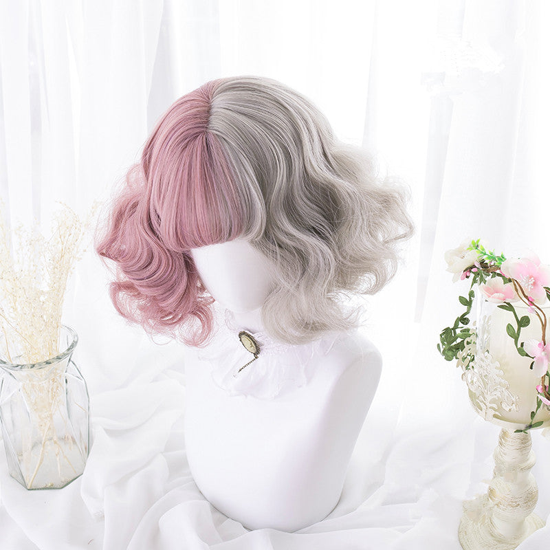 Lolita retro cute mixed color wig yc20672