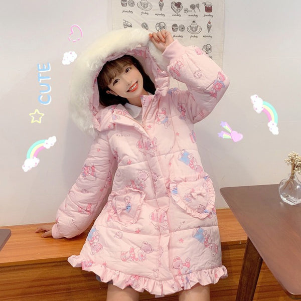 Japanese pink bear cotton jacket YC23968