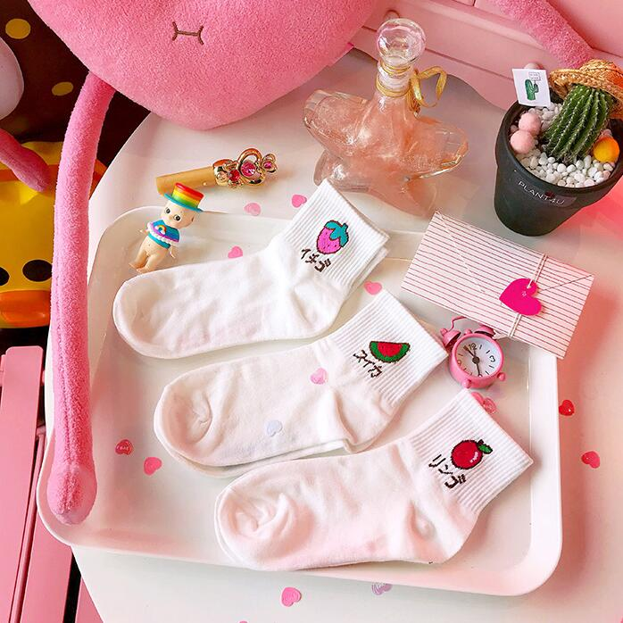 College style fruit pattern cute socks yc23354