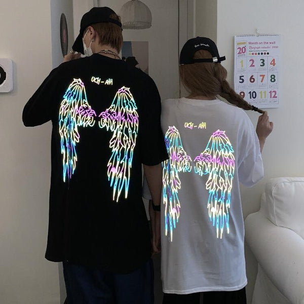 Fashion design angel wings reflective T-shirt yc23427