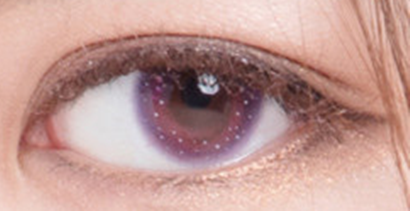 blue purple contact lenses (two pieces) YC21734