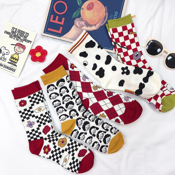 Fashion cute cartoon cotton socks yc23458