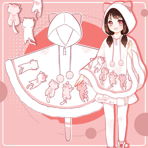 Cute cat sweater cloak yc20723