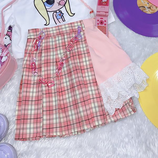 Harajuku sweet plaid pants skirt yc23426