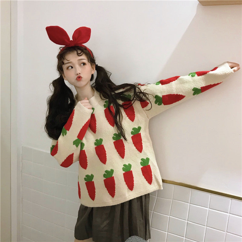 Cute carrot sweater yc21109