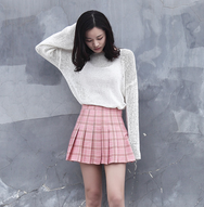 Lolita plaid pleated skirt yc20961