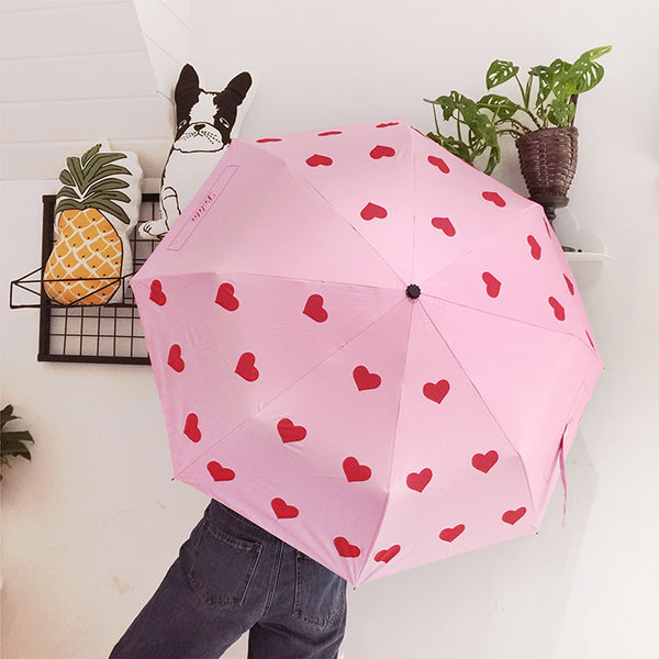 Pink love umbrella yc21139