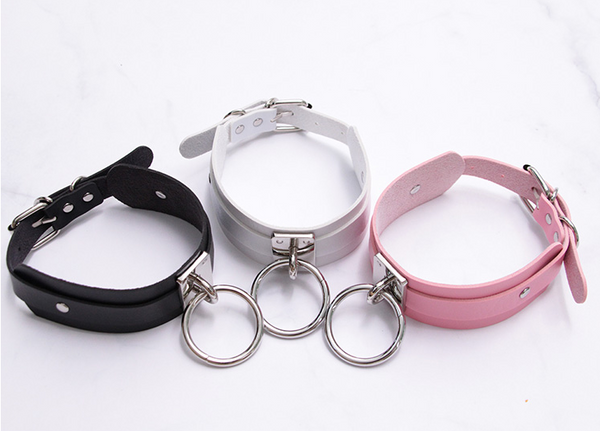 Japanese leather collar yc21180