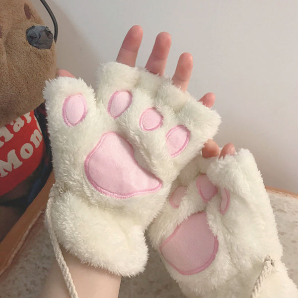 Cat cute plush gloves YC23949