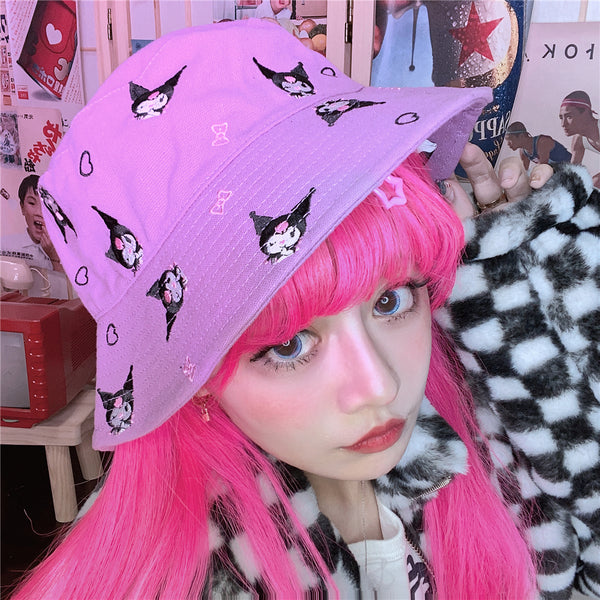 Harajuku cartoon fisherman hat yc23871