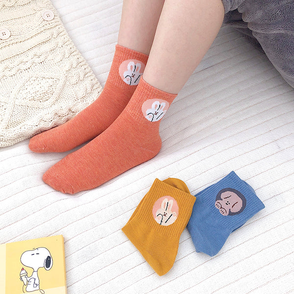 Harajuku style cute cartoon socks yc23268