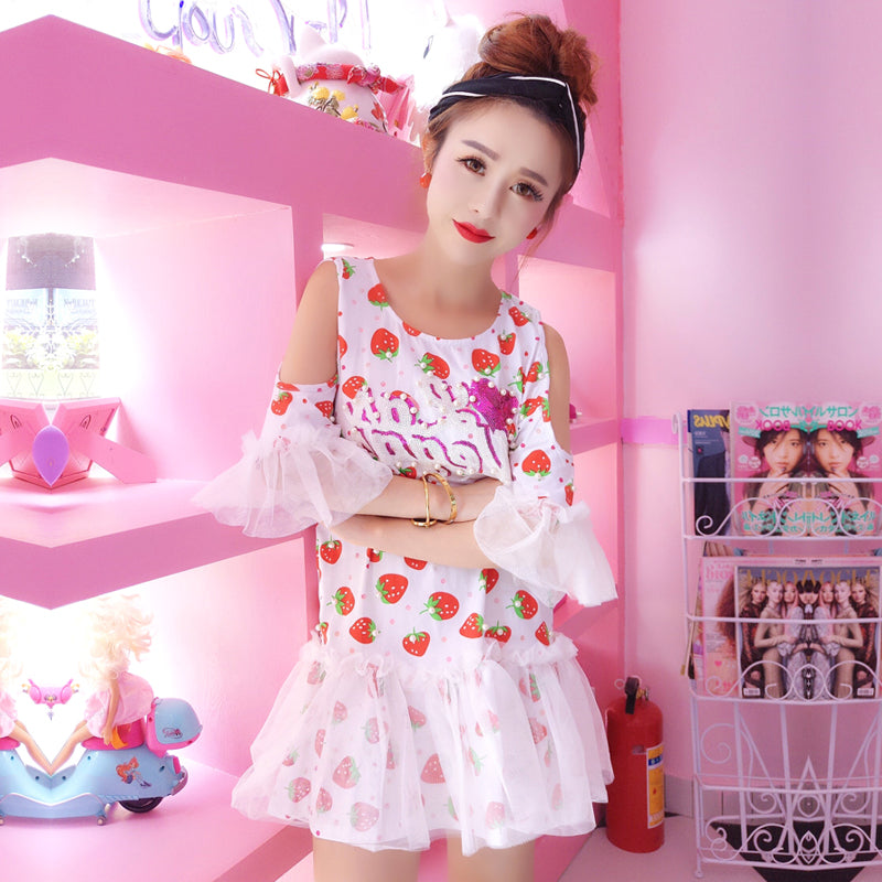 Cute strawberry dress yc21058