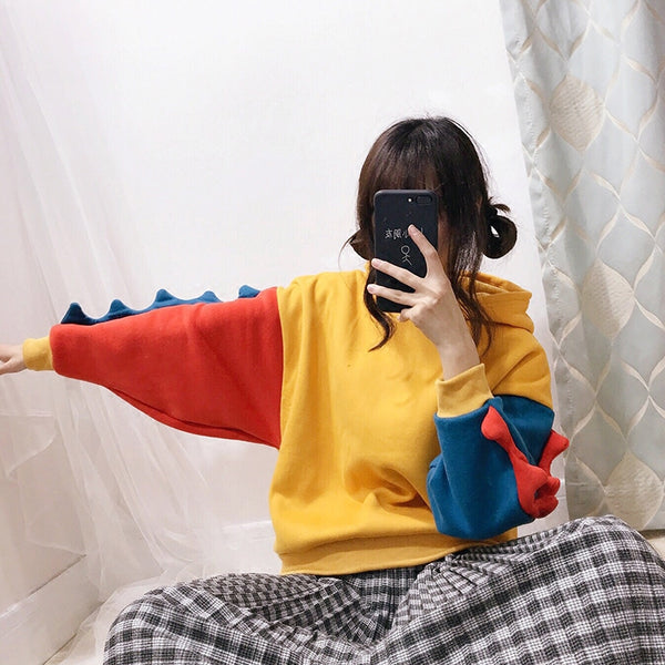 Cute dinosaur hooded sweater yc20928