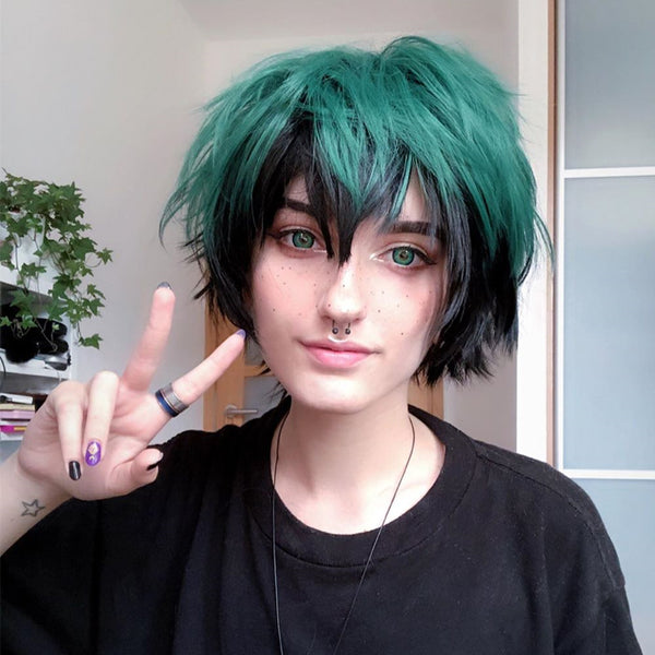 My hero academia cos gradient wig YC20319