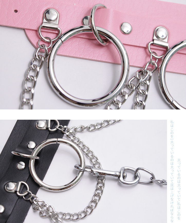 Punk PU Neck ring yc21181