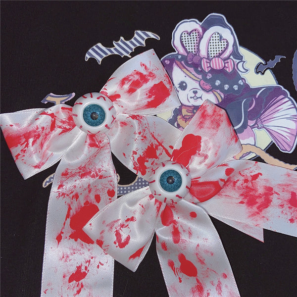 Harajuku bloodstain eyeball hairpin YC24014