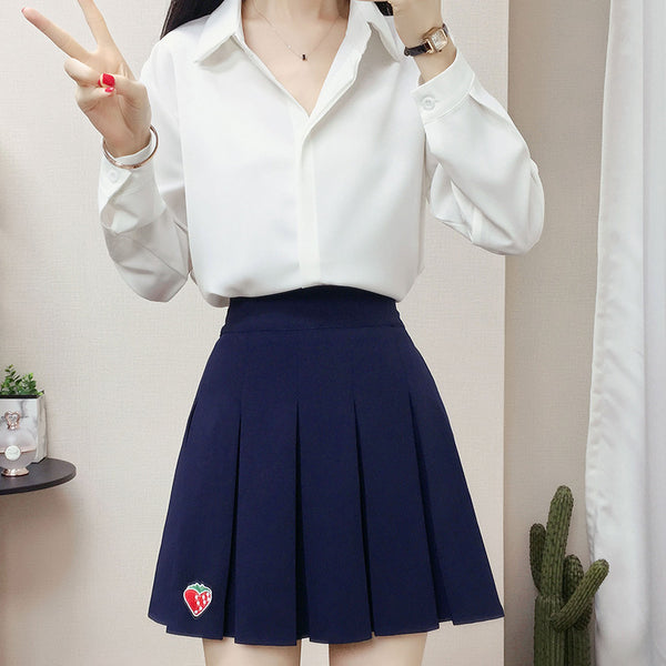 Fashion navy blue skirt yc23605