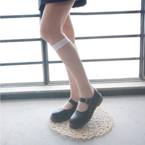 Japanese style summer fishnet socks yc23150