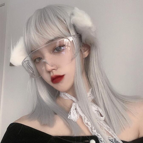 lolita grey white wig YC23990