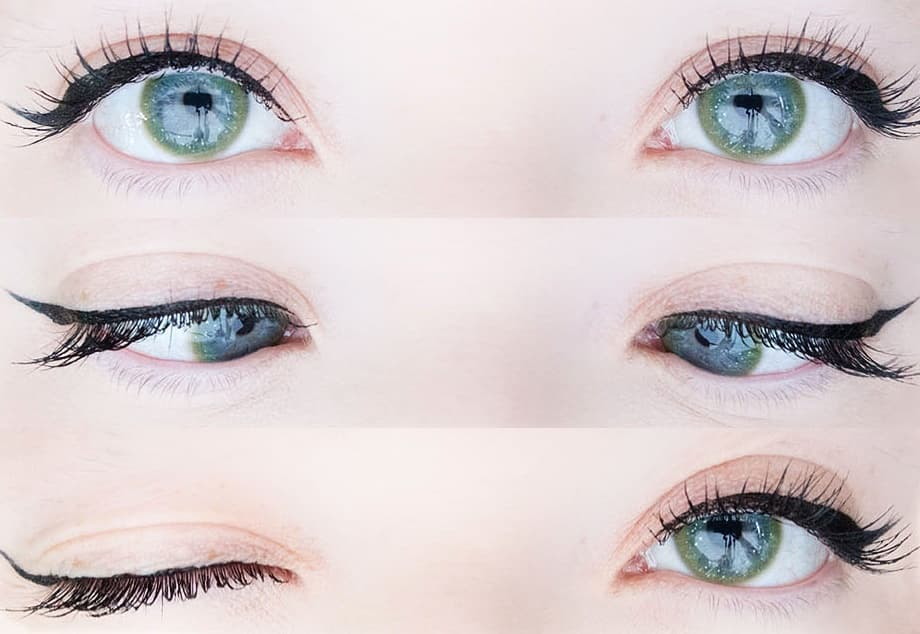 Green contact lenses (two pieces)  YC21857