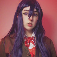Cosplay purple curly wig YC20369