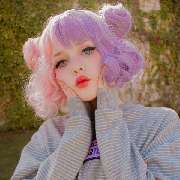 Lolita color wig + hair bag  YC21920