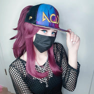 League of Legends KDA Akali cosplay wigs yc20786