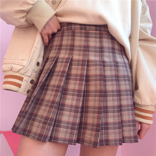 Lolita plaid skirt yc21102
