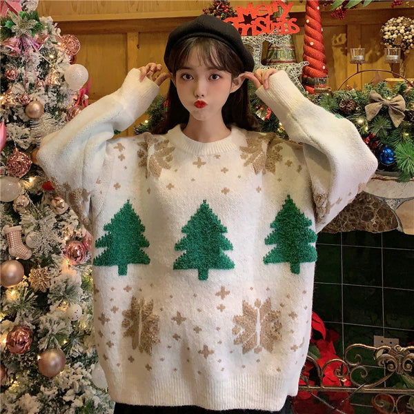 Cute christmas tree sweater yc23762
